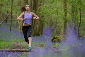 Running in bluebells