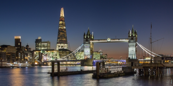 the shard and tower Bridge, london