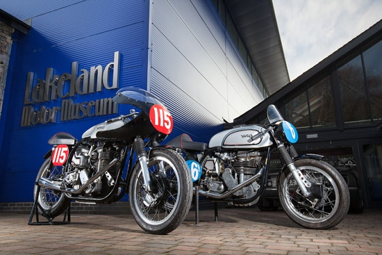 A brace of Manx Norton shot for Lakeland Motor Museum